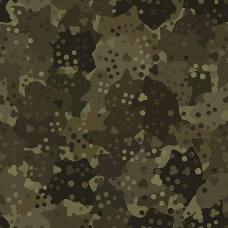 Camouflage pattern background. Modern clothing style masking camo repeat print Ilustração