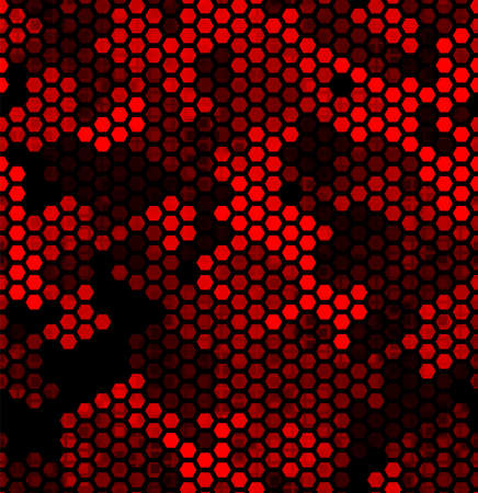 Ruby pattern of triangles, hexagons, squares. Red, maroon, black colors