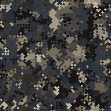 Seamless digital urban pixel camo texture vector for army textile print Ilustração