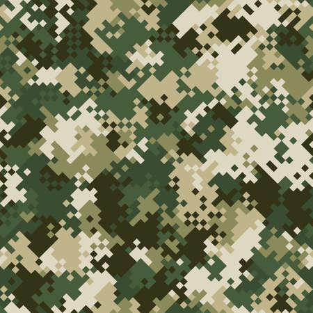 Seamless digital mountain pixel camo texture vector for army textile print Ilustração