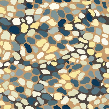 Beach pebbles seamless vector pattern backgrount texture
