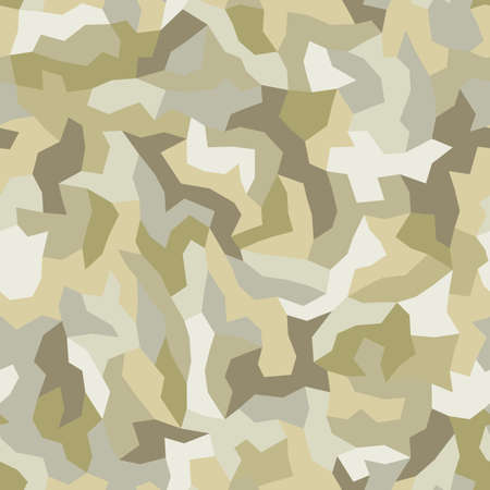Desert camouflage of various shades of gray, beige and yellow colors