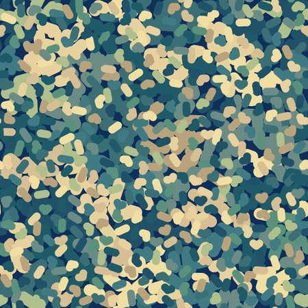 Flecktarn camouflage seamless pattern background. Vector illustration. Ilustração