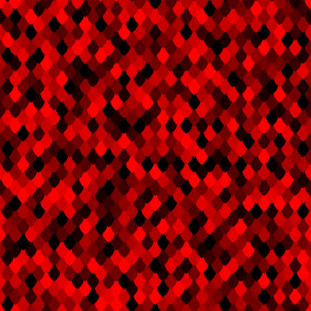 Abstract scale pattern. Color squama texture. Bright ruby seamless pattern