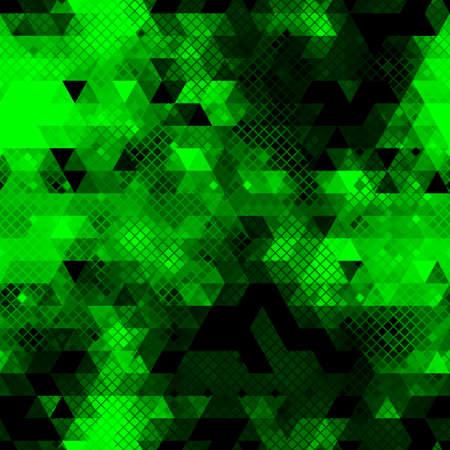 Vector trendy low poly seamless pattern. Camouflage polygonal background Ilustracje wektorowe