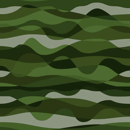 Curly waves tracery, colored curved lines. Stylized abstract camouflage Vektorové ilustrace