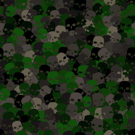 Seamless digital woodland camo vector texture.