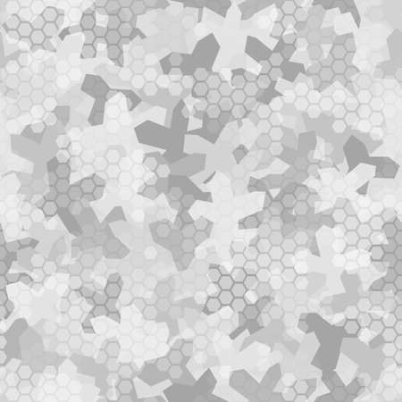 Seamless digital arctic snow spot camo texture for army or hunting textile print Vettoriali