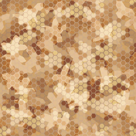 Texture military camouflage seamless pattern. Abstract army vector illustration Vettoriali