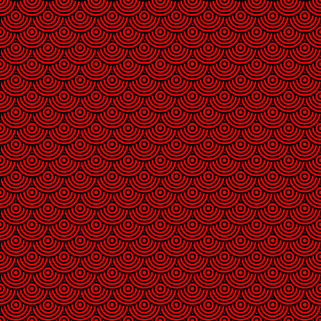 Seamless pattern of thin lines of concentric circles