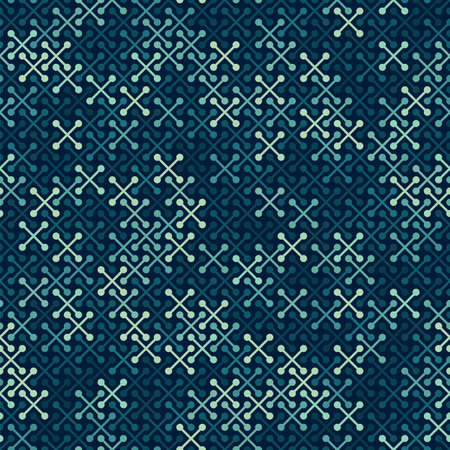 Simple modern print with crosses. Minimalist seamless surface pattern Vettoriali