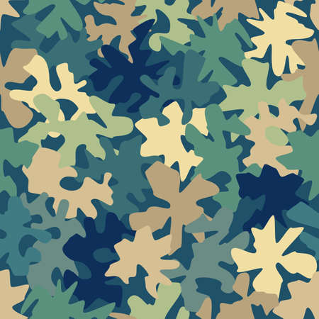 Camouflage military marine seamless pattern background vector illustration