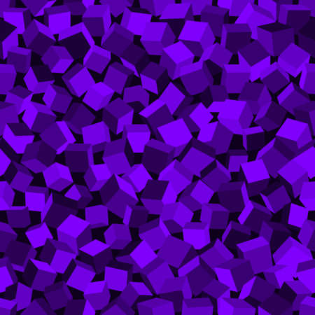 Abstract image of purple cubes background. Seamless pattern vector illustration