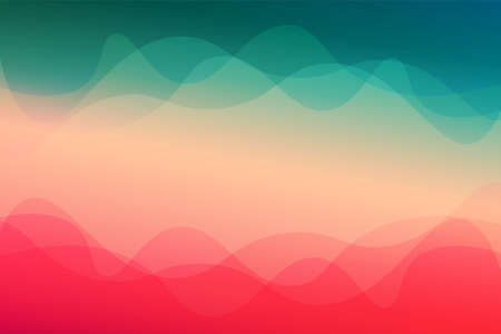 Landscape skyblue gradient fill vector abstract background minimalistic concept Vettoriali