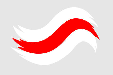 Belarus white-red-white flag. Elections in Belarus 2020. Long live Belarus