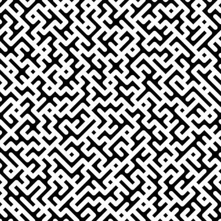 Minimalistic vector background. Trendy seamless Black And White shapes pattern Vector Illustration