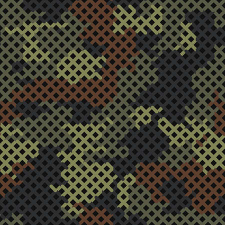 Seamless vector pattern for army fabric and design. Modern spotted forest print