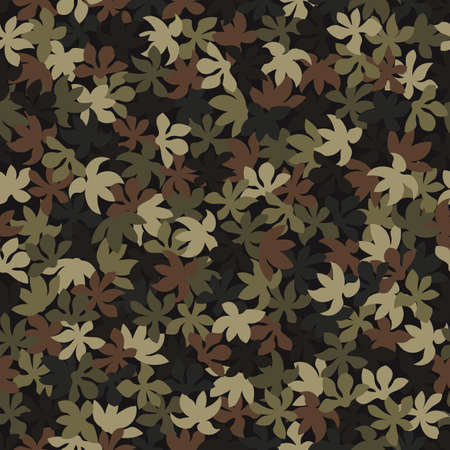 Brown color style abstract geometric fashion camouflage seamless pattern.
