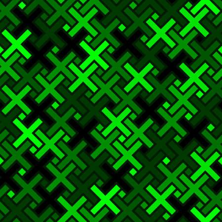 Cross shapes columns seamless pattern. Geometric ornament for textile print Ilustracje wektorowe
