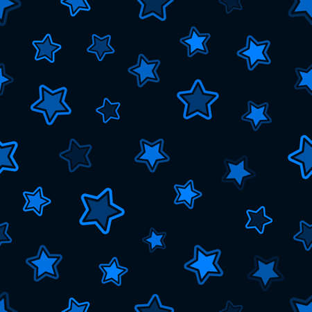 Seamless graphic pattern with simple geometric shape of the stars