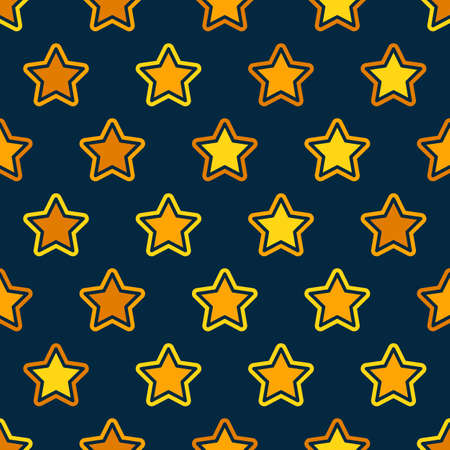 Stars grid seamless pattern background. Design element for textile print