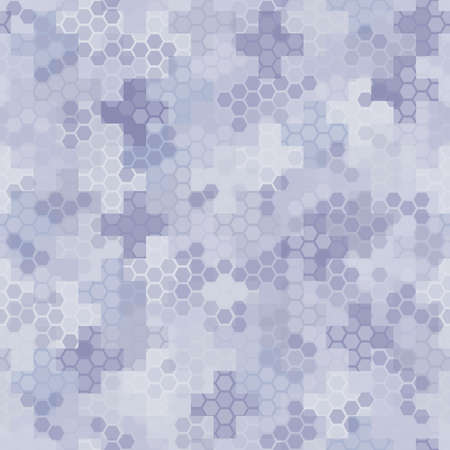 Seamless hex digital arctic snow spot camo texture for army or hunting textile
