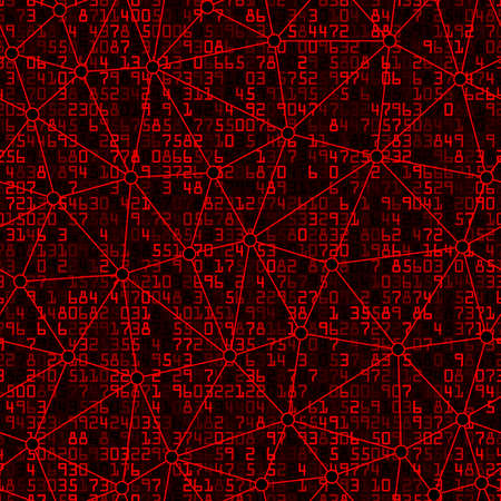 Mathematical with Linear Triangular Shapes Seamless Pattern Background