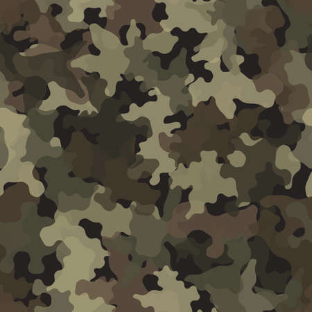Camouflage seamless pattern texture. Abstract vector military camo backgound