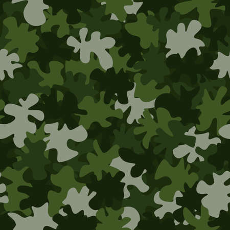 Military camouflage seamless pattern. Abstract army vector illustration