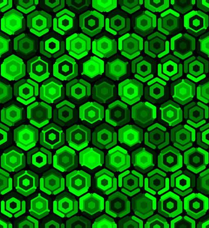 Contemporary honeycomb geometric pattern. Repeated hexagon ornament 向量圖像