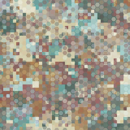 Camouflage seamless pattern. Urban hexagonal fashion clothing style. 向量圖像