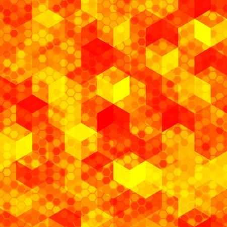 Lava Halftone Modern Design Backdrop. Hot Red Bright Pixel Camouflage