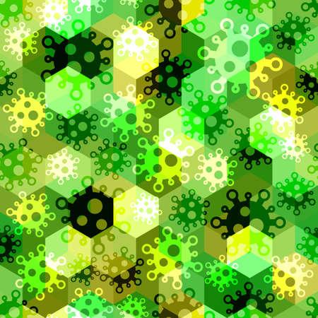 Military virus seamless pattern background. Pandemic concept camouflage 版權商用圖片 - 167781433