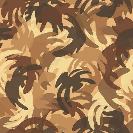 Camouflage pattern background. Urban clothing style masking camo repeat print 向量圖像