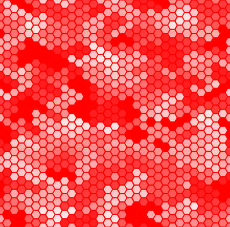 Monochrome seamless honey pattern with halftone hex cells in linear style