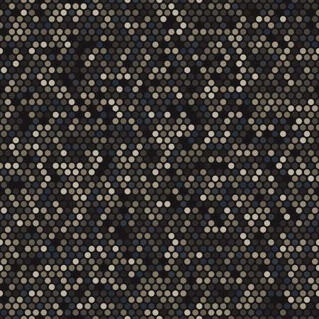 Military camouflage seamless pattern. Urban digital pixel style. 向量圖像