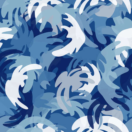 Camouflage seamless pattern. Abstract modern vector military backgound.