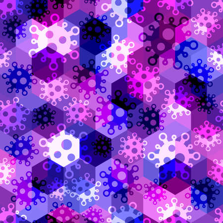 Military virus seamless pattern background. Pandemic concept camouflage
