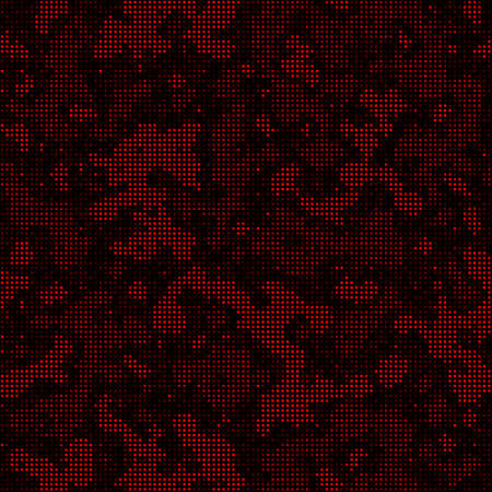 Abstract Pixel Texture with Squares for Banner, Card, Web or Textile Prints