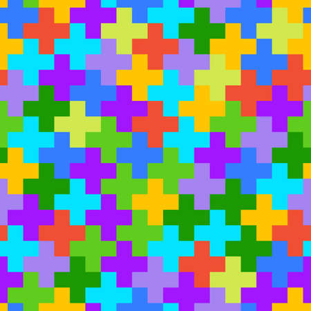 Seamless abstract geometric pattern with cross shapes. Modern stylish texture