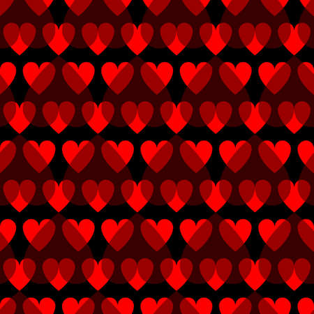 Mosaic red heart pattern. Decorative Vector texture for Valentines Day 向量圖像