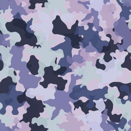 Camouflage seamless pattern background. Classic clothing masking camo print