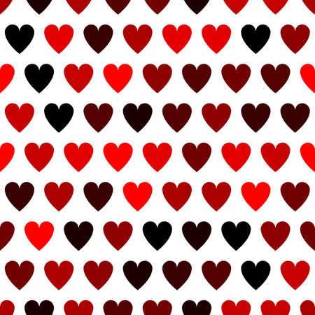Red hearts seamless pattern. Vector illustration seamless pattern. Flat design