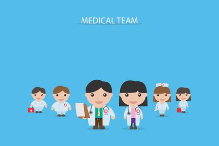 heath: medical team concept, vector illustration