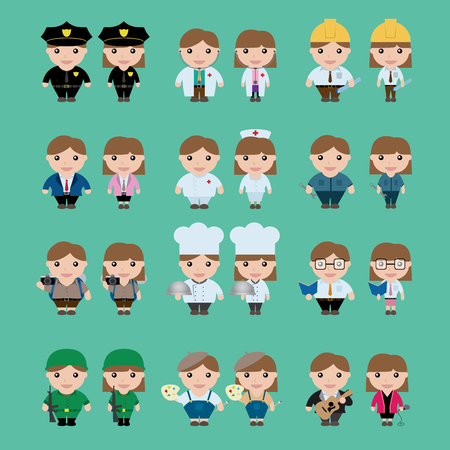 Career Character, vector Illustration