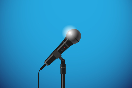 microphone with floor stand