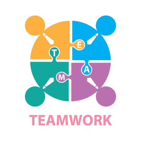 Businessmen with jigsaw puzzle pieces, teamwork concept