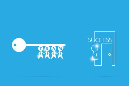 ビジネスマンのシンボル、チームワーク、ビジネスの概念と成功の鍵