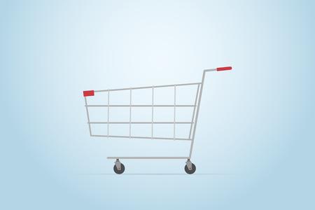 Shopping cart, flat design Ilustrace