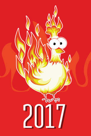 chinesse: New Year fire rooster 2017